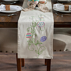 Easter Egg Stitched Table Runner