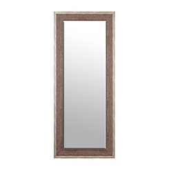Two-Tone Natural Wooden Framed Mirror