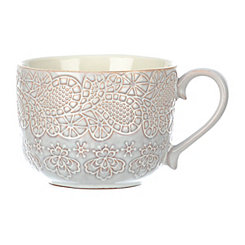 Embossed Paisley Cream Mug