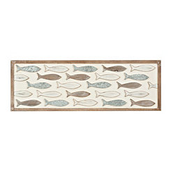 School of Fish Mixed Wall Plaque