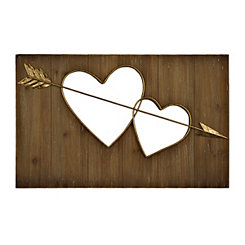 Two Hearts Cutout Wall Plaque