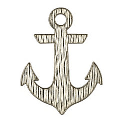 Silver Metal Anchor Wall Plaque