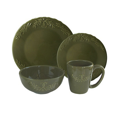 Hunter Green Bianca Laurel 16-pc. Dinnerware Set