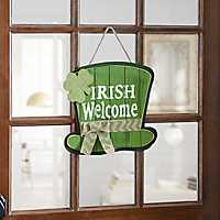 Irish Welcome Wood Plank Plaque