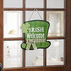 Irish Welcome Wood Plank Plaque