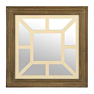 Vintage Geometric Square Decorative Mirror