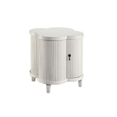 White Quatrefoil Cabinet