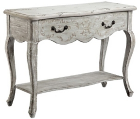 S Oped Scroll Console Table