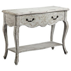 Scalloped Scroll Console Table