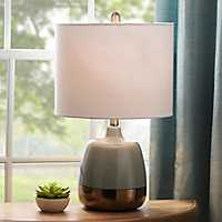 Gray Gold Dipped Table Lamp