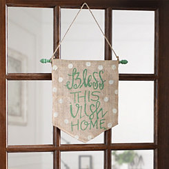 Bless This Irish Home Burlap Banner