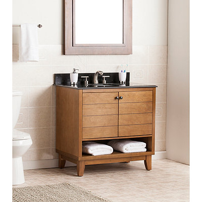Granite Top Poprad Bath Vanity Sink, 34 in.