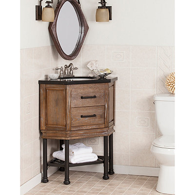 Granite Stamberg Corner Bath Vanity Sink, 32 in.
