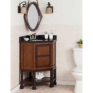 Granite Alpsee Corner Bath Vanity Sink, 32 in.