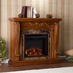 Walnut Gerzso Electric Fireplace