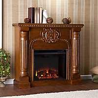 Antique Oak Hoyland Electric Fireplace
