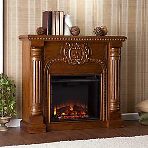 Antique Oak Hoyland Electric Fireplace