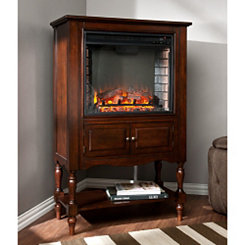 Mahogany Logasa Tower Fireplace Cabinet