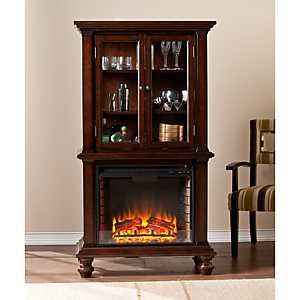 Morandi Fireplace Curio Cabinet