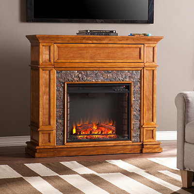 Stellam Faux Stone Electric Fireplace