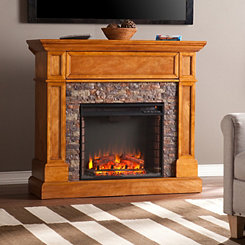Passantino Faux Stone Electric Fireplace