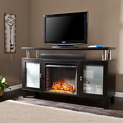 Black Nevelson Fireplace Entertainment Center
