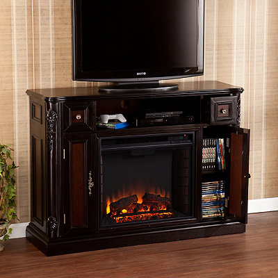 Ebony Hausmann Fireplace Entertainment Center