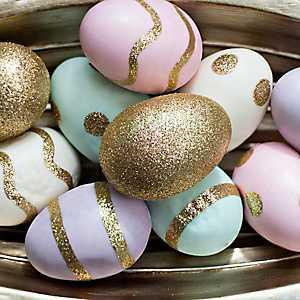 Pastel Gold Glitter Easter Egg Filler