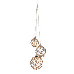 Pre-Lit Netted Clear Hanging Orbs