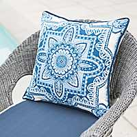 Cassia Blue Medallion Outdoor Pillow