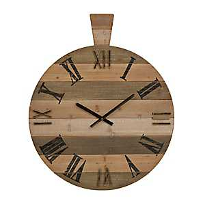 Garvin Board Natural Wall Clock