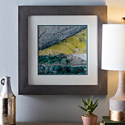 Green Abstract Mineral I Framed Art Print