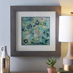 Green Abstract Mineral II Framed Art Print
