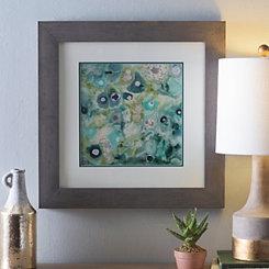 Green Abstract Mineral II Framed Art Print