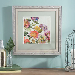 Bright Floral Garden I Framed Art Print