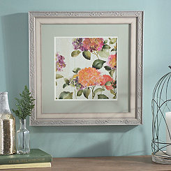Bright Floral Garden II Framed Art Print