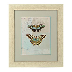 Blue Butterflies I Framed Art Print