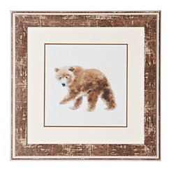 Bear Woodland Animals Framed Art Print