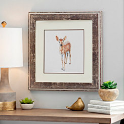 Deer Woodland Animals Framed Art Print