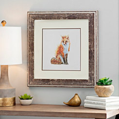 Fox Woodland Animals Framed Art Print