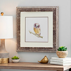 Owl Woodland Animals Framed Art Print