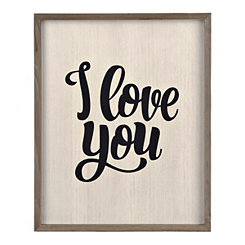 I Love You Script Wall Plaque