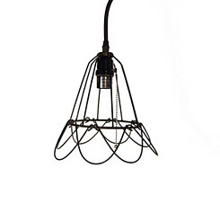 Open Weaved Bell Pendant Light