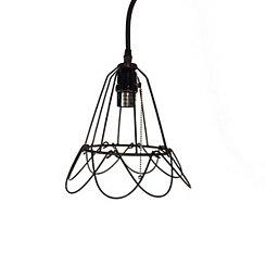 Open Weaved Bell Pendant Light