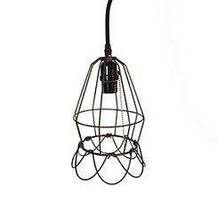 Industrial Pinched Bell Pendant Light