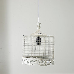 Small Ivory French Country Pendant Light