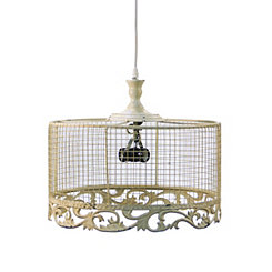 Large Ivory French Country Pendant Light