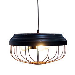 Vintage Industrial Disc Pendant Light