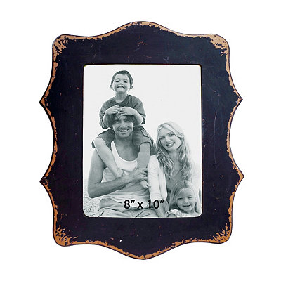 Black Scalloped Edge Picture Frame, 8x10
