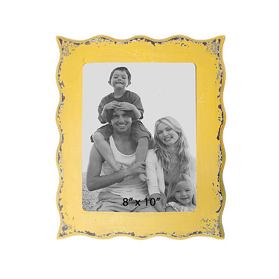 Yellow Scalloped Edge Picture Frame, 8x10